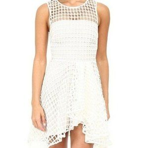 Stylestalker L Dress Caged Piano White Fit N Flare